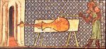 Earliest picture of a European cannon, 1326