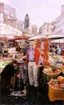 The spouse in Campo di Fiori, with Bruno