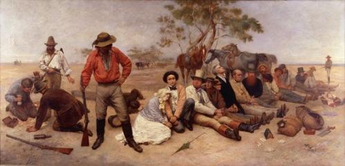 Bushrangers (1877) by William Strutt (Source: Wikipedia Commons)