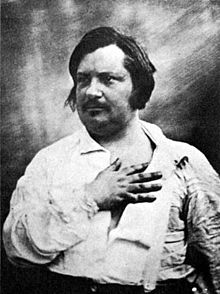 Honoré de Balzac_(1842): Source: Wikipedia Commons