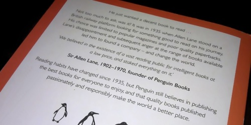 popular penguins back cover