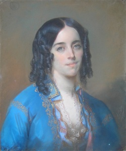 George Sand by Charles Louis Gratia (c1835) (Source: Wikipedia)