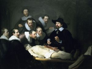 The Anatomy Lesson of Dr Nicolaes Tulp by Rembrandt (Source: Wikipedia Commons)