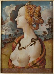Portrait of Simonetta by Piero di Cosimo (Wikimedia Commons)