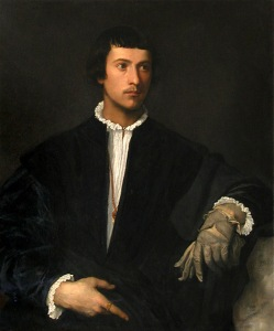 The Man with the Glove by Titian, held at The Louvre (Wikipedia Commons)