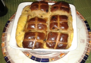 2017 Julie Goodwin's Hot Cross Bun and Butter pudding