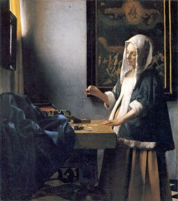Woman with a Balance by Vermeer (Wikipedia Commons)